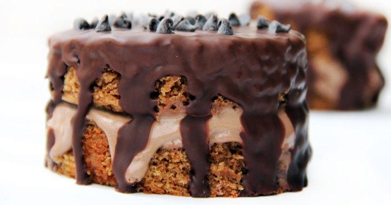 Tarta de chocolate vegana