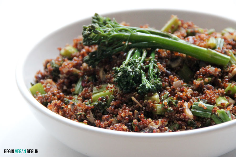 quinoa roja con bimi