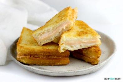 sandwiches veganos rebozados