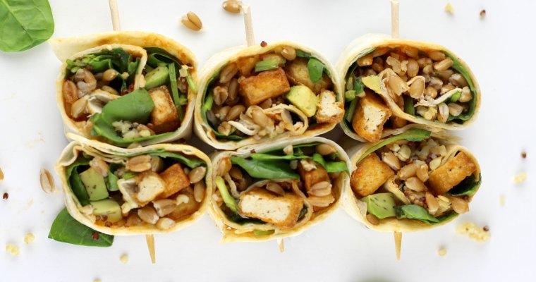 Wraps de tofu y cereales