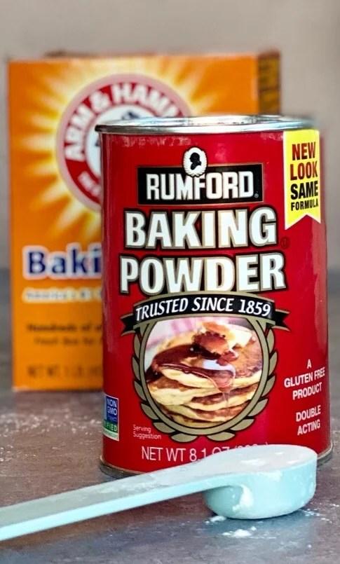 Baking powder and baking soda.