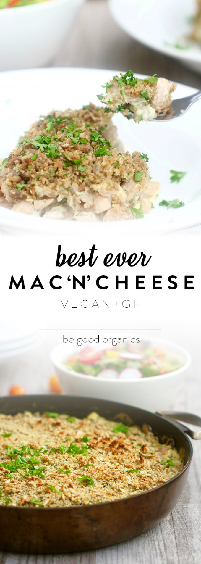 The best mac n cheese ever! Vegan, gluten free, super flavoursome, healthy, light on the waistline, and with a secret vegetable-based sauce ingredient!