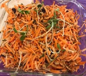 Raw Sweet Potato Salad