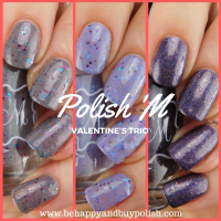 Polish 'M Valentine's Trio: Cupid's Love, Sweets for the Sweet, XOXOX swatches + review