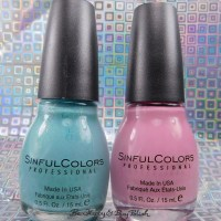 Sinful Colors Kandee Johnson Sugar finish nail polishes swatches + review