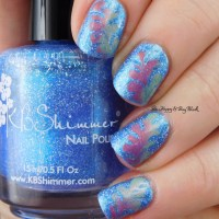 Thermal Drag Marble manicure with KBShimmer We Make Your Dreams Come Blue and Fancy Gloss Siren's Lure