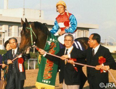 1987(昭和62)年の第4回マイルチャンピオンシップの勝ち馬ニッポーテイオー