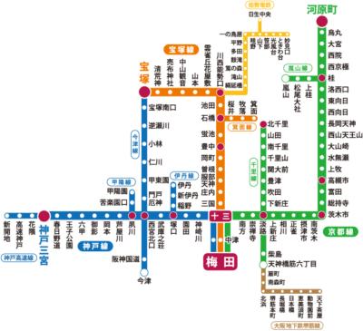 阪急今津線 路線図