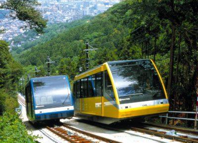 皿倉山山頂へのケーブルカー