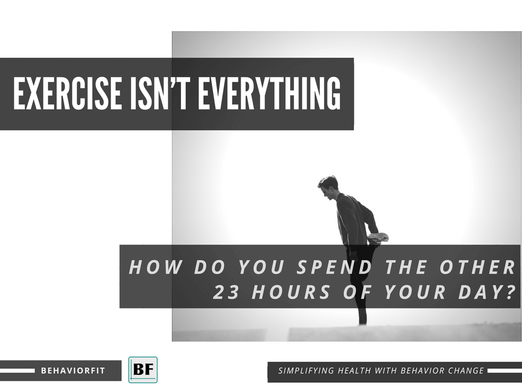Exercise Isn't Everything: How do you spend the other 23 hours of your day?