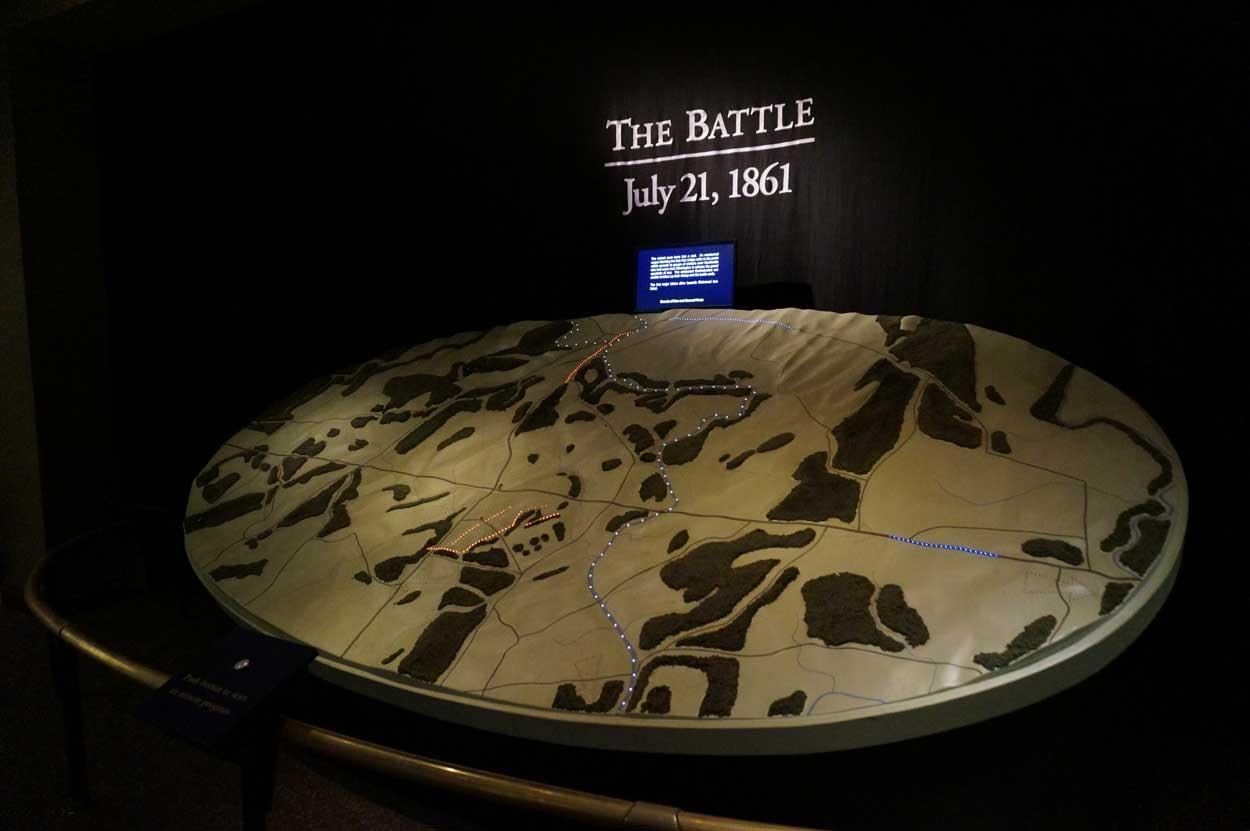 battle display at visitors center
