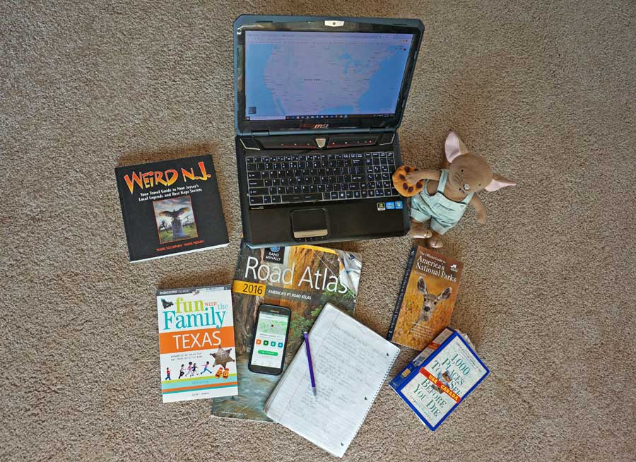 travel mascot and road trip planning tools