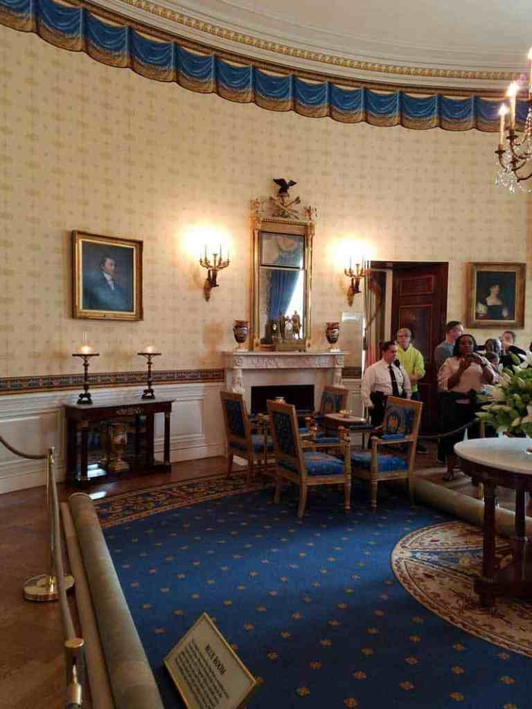 Blue Room in the White House