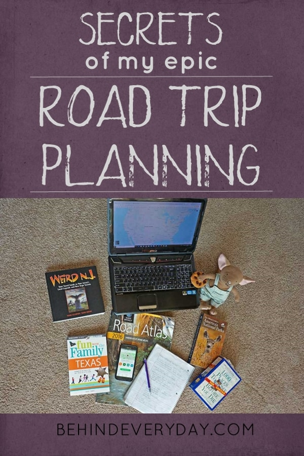 Want to plan an epic road trip with quirky and interesting stops along the way? Check my tried and true planning process used year after year for our family road trips across the US