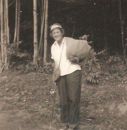 "A photo of Emma ""Grandma"" Gatewood on the Appalachian Trail."