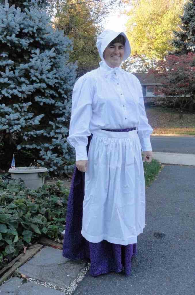 wearing my pioneer costume