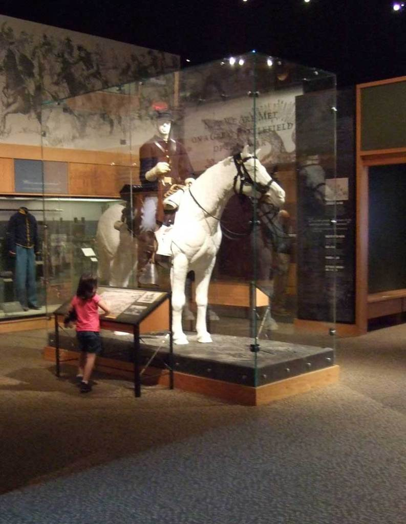 Inside the museum at the Gettysburg National Military Park visitors center