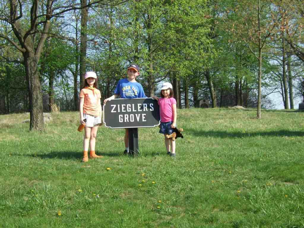 This area, Zieglers Grove, is now under renovation to be returned to how it looked at the time of the Battle of Gettysburg.