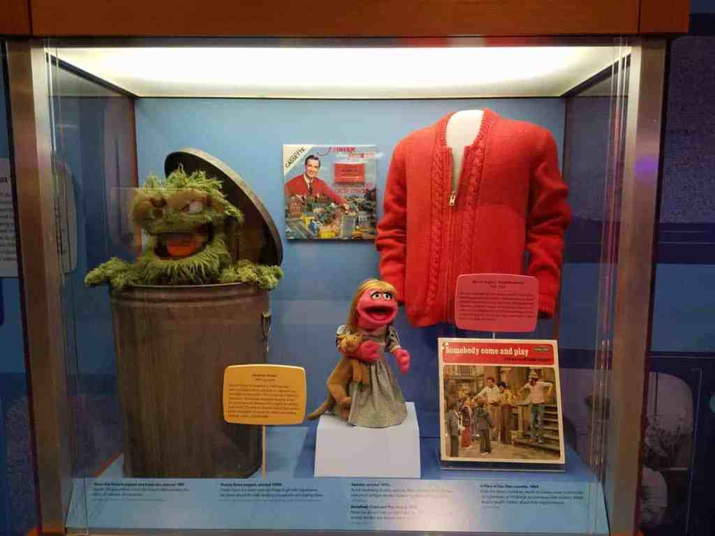 Mister Rogers' trademark cardigan is on display at the Smithsonian Museum of American History in Washington, DC. Mister Rogers Neighborhood was a children's show which ran for 31 seasons on public television. The show brought a positive message of love and caring to millions of children every day. Mister Rogers truly changed the world for better.