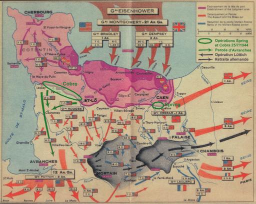 D-Day battle plans illustration by Michel d'Auge on wikipedia