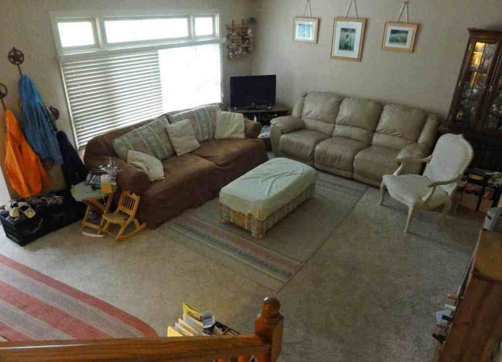 living room with couches