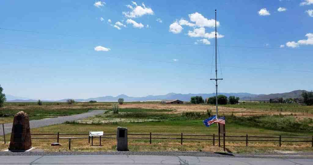 Overlooking the former site of Camp Floyd, Utah
