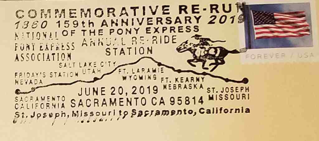 Every letter that is part of the re-ride is handstamped with a commemorative cancellation.