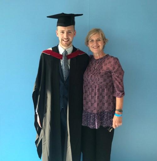 Liam at his graduation