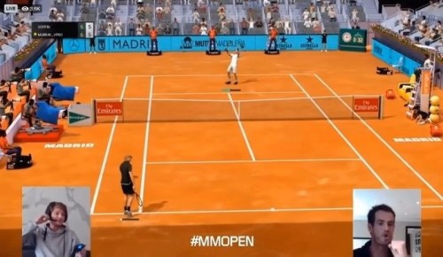 Andy Murray vs David Goffin in the final of the 2020 Mutua Madrid Open Virtual Pro title.