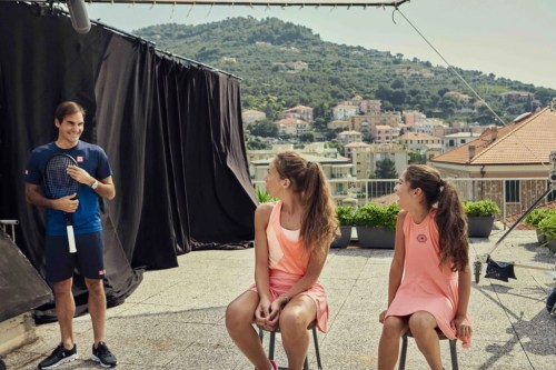 Roger Federer surprises two young fans in Italy after they went viral on social media in March