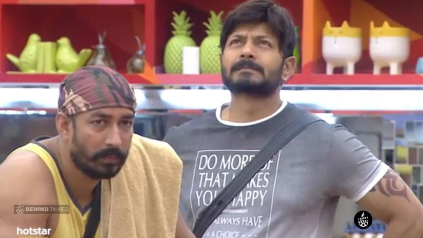 Amit Tiwari and Kaushal in Bigg Boss House