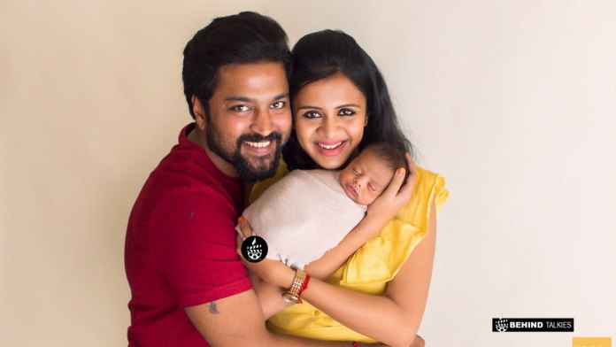 Anjana with her Husband Chandran and Son Rudraksh