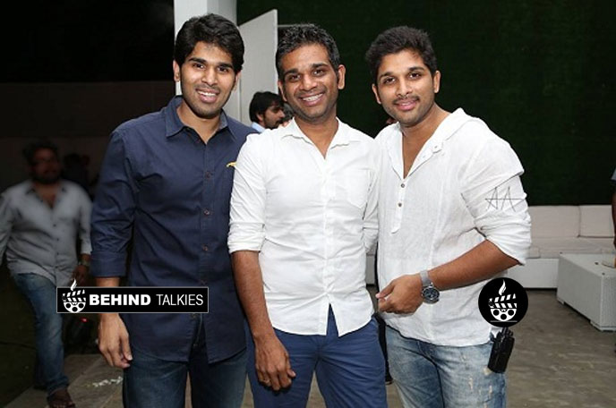 Allu Arjun with his brother Allu Venkatesh and ALlu Sirish