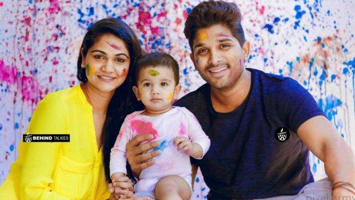 Allu Arjun with his wife Sneha Reddy and their son Allu Ayaan