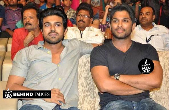 Allu arjun with Ramcharan