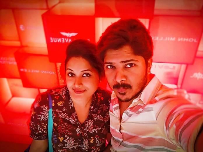 Dhanraj with his wife Shalini