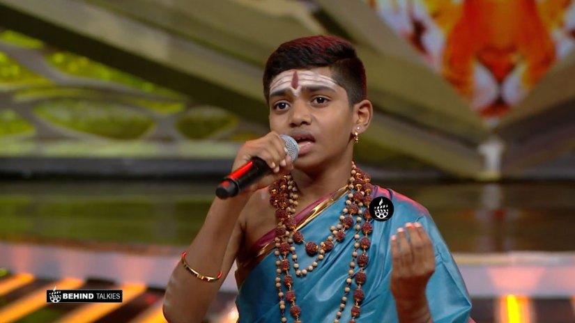 Super Singer Srinivas in Getup round
