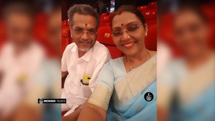 Fathima Babu With her Husband Babu