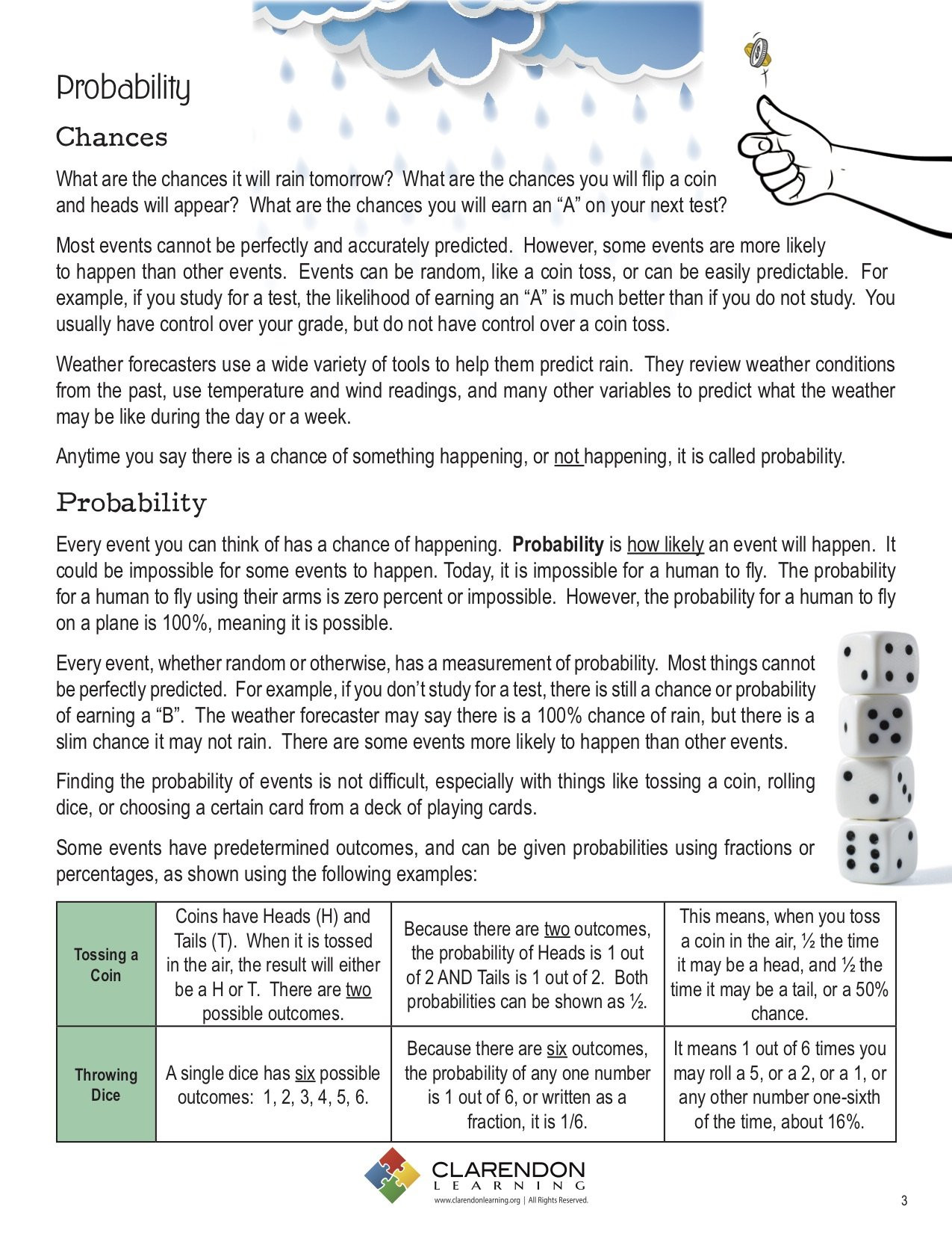 Probability Worksheet 5th Grade Probability Education