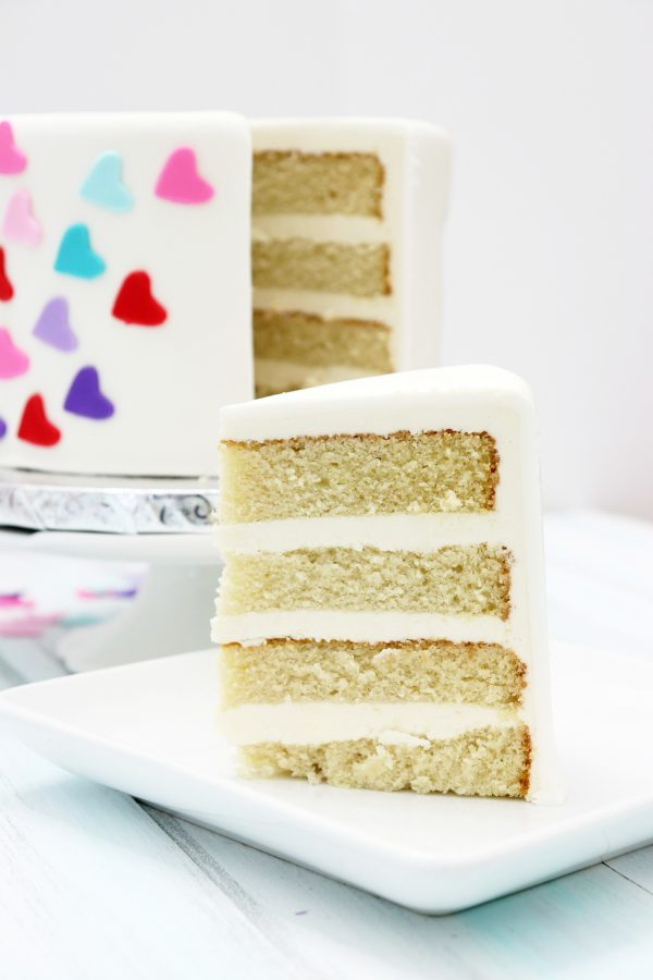 Behind the cake- Vanilla cake from scratch recipe