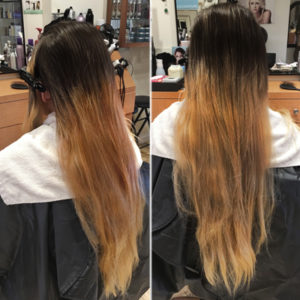 color correction with bad regrowth before photo
