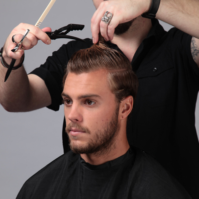 Shear Taper With Extended Pompadour Behindthechair Com