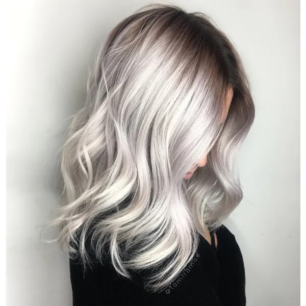 Color Correction Icy Blonde Shadow Root Behindthechair Com
