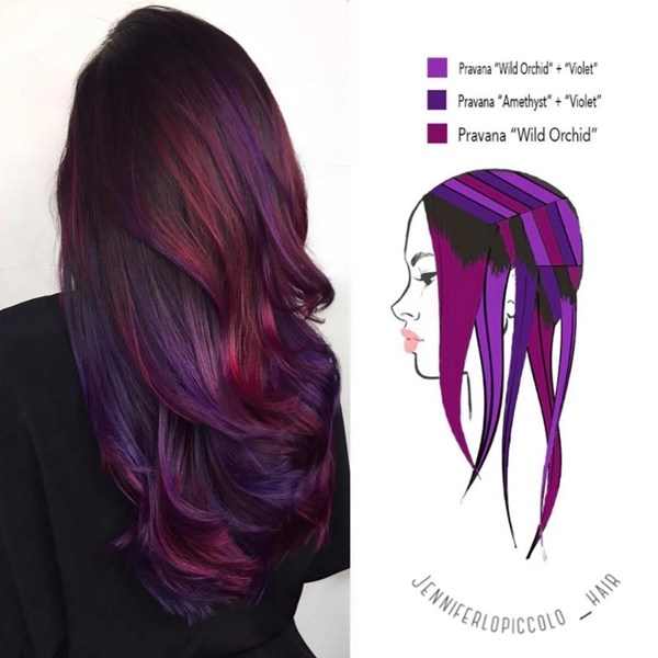 These 6 Hair Painting Diagrams Show You Exactly How To Get Color Like This Behindthechair Com