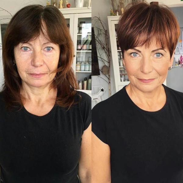 pixie haircut transformation by @studiomarteena