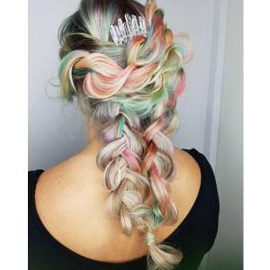 lived-in braid loose boho braided style simple dutch braid rope braid sexy hair