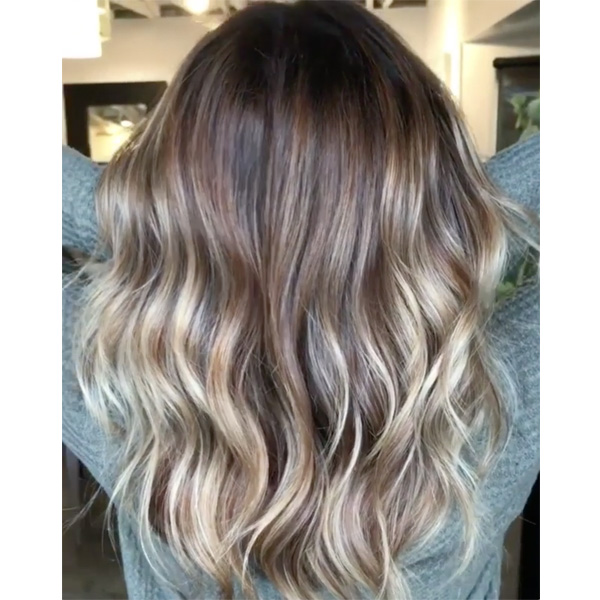 Watch Gray Coverage + Blonde Balayage behindthechair.com