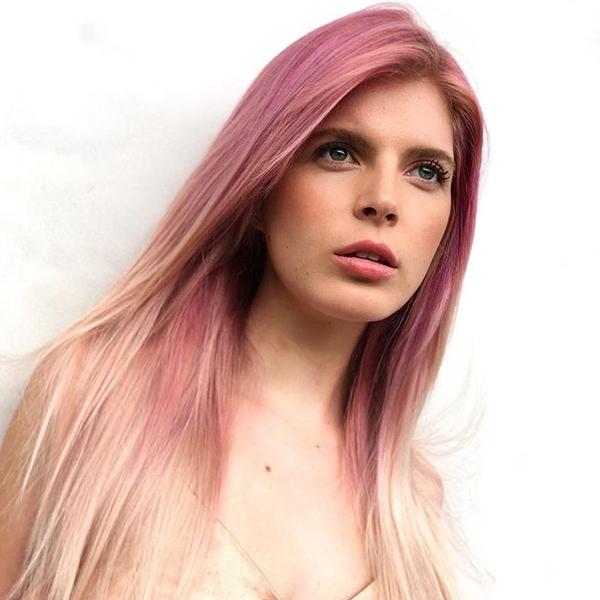 Rocky Vitelli and Alix Maya Create A Pastel Pink Reverse Ombre