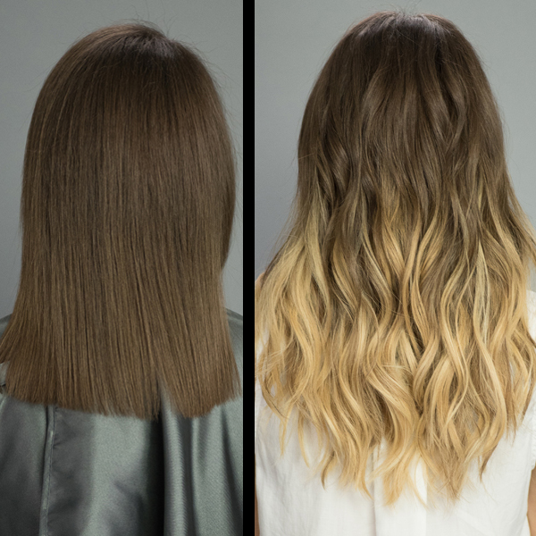 hairtalk ombre extensions before and after