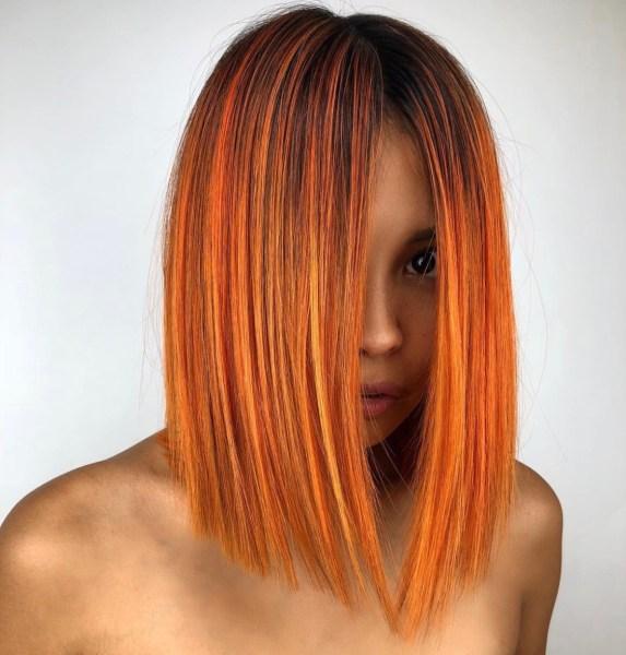 Orange haircolor by nadinematarhair - fashion color hair